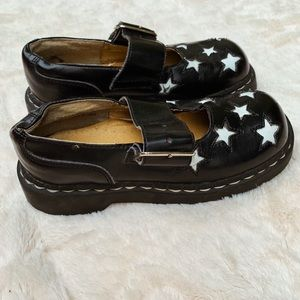 Anarchic Leather Stars Mary Jane Shoes